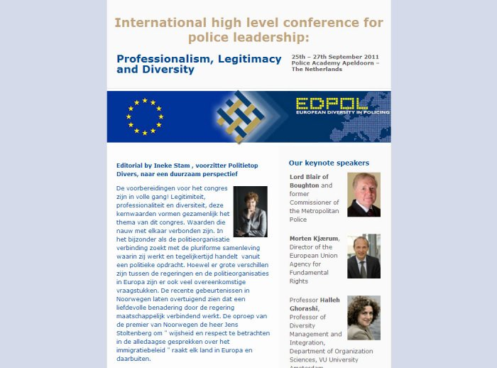 Newsletter template, Ed-Pol International Conference