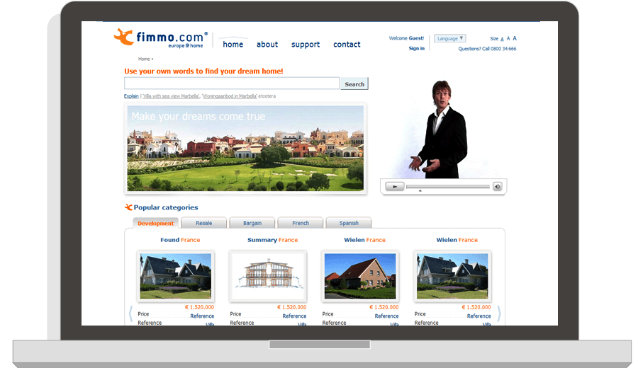 Website Fimmo Real Estate