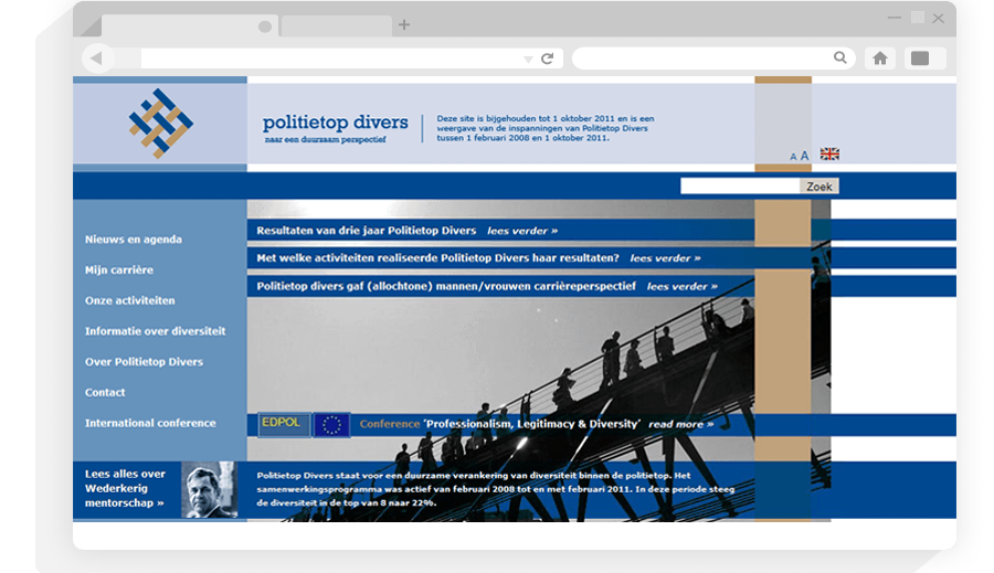 Website PolitieTop Divers