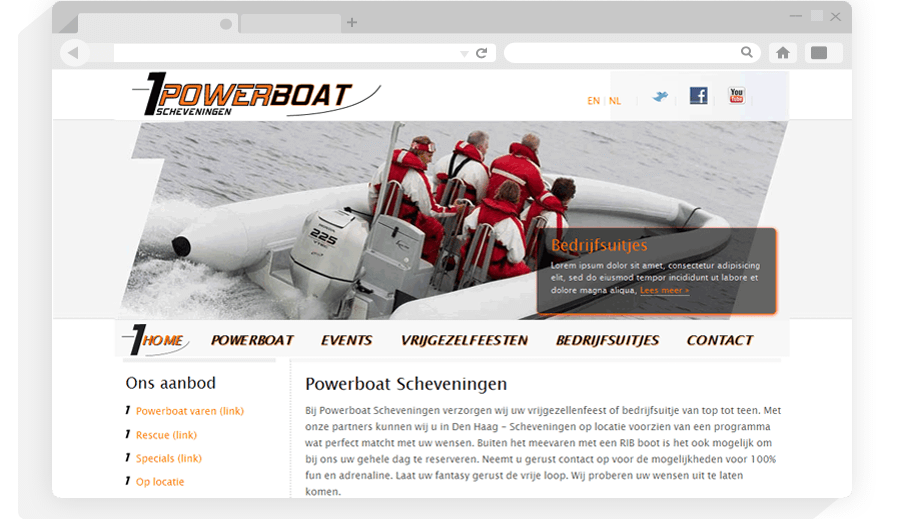 Website PowerBoat Scheveningen